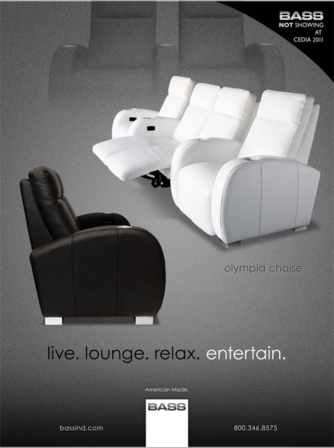 As seen in CE Pro Spetmeber 2011 Edition, Olympia Chaise