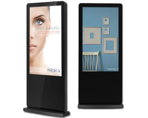 digital signage simplified free standing