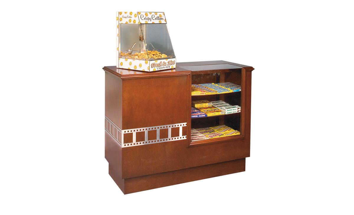 hardwood concession counter