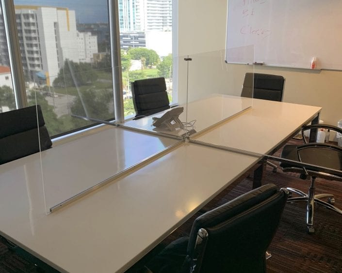 Conference Table Partition Panels