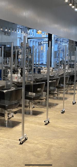 salon plexiglass dividers