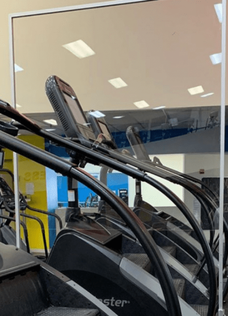 gym free standing acrylic panel